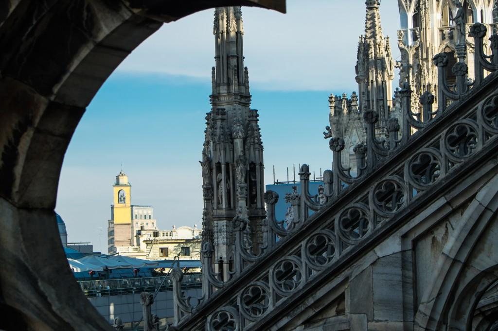 ミラノ大聖堂の上から